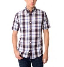 Slim Fit Woven Plaid Shirt
