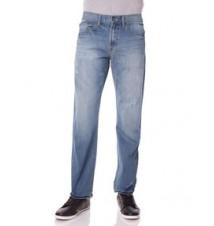 Slim Straight Fit Small Logo Jean, Light Wash