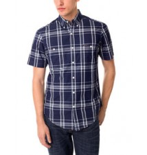 Slim Fit Woven Plaid Shirt