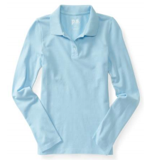Kids' Long Sleeve Uniform Piqué Polo Aeropostale