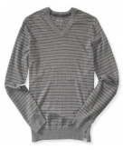 Thin Stripe V-Neck Sweater Aer..