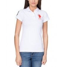 Contrast Patch Big Logo Polo Shirt