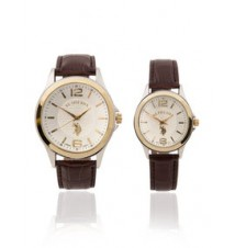 Men's and Women's Brown Strap Gift Set