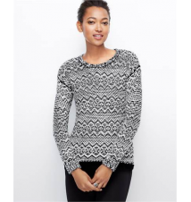 Elliptical Stitch Sweater Ann Taylor