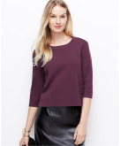 Structured Zip-Back Sweater An..