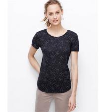 Star Print Shirttail Hem Tee Ann Taylor