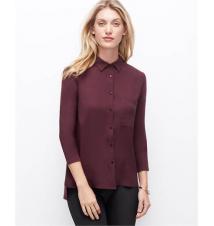 Woven Front Button Down Shirt Ann Taylor