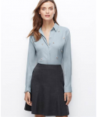 Petite Crepe Embellished Shirt..