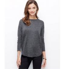 Petite Back Zip Pleat Top Ann Taylor