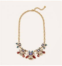 Multicolored Cast Stone Necklace Ann Taylor Loft