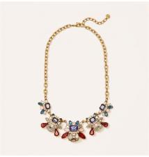 Multicolored Cast Stone Necklace Ann Taylor Loft