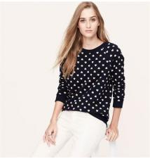 Heart Print Sweatshirt Ann Taylor Loft