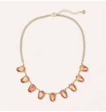 Short Pink Teardrop Gem Necklace Ann Taylor Loft