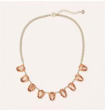 Short Pink Teardrop Gem Necklace Ann Taylor Loft