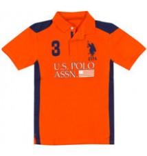 Boys US Polo Assn Color Block Polo Shirt