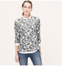 Ivy Jacquard Sweatshirt Ann Taylor Loft