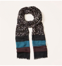 Animal Spots Colorblock Scarf Ann Taylor Loft