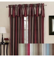 Annabella Faux Silk Ombre Stripe Window Curtain Anna's Linens