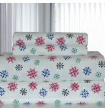100% Cotton Snow Flakes Multi Flannel Sheet Set Anna's Linens