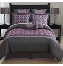 Fatima 8 Piece Embroidered Comforter Set - Queen Anna's Linens
