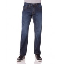 Slim Straight Fit Small Logo Jean, Dark Wash