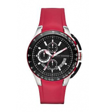Red Rubber Strap Watch Armani Exchange