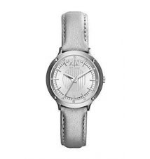 Silver Leather Band Watch Armani Exchange