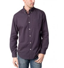 Slim Fit Long Sleeve Poplin Dot Shirt
