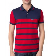Jersey Pocket Slim Fit Stripe Polo Shirt