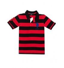 Boys Rugby Stripe Polo Shirt