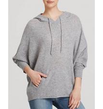 AQUA Sweater - Avi Hoody Poncho Cashmere Bloomingdale's