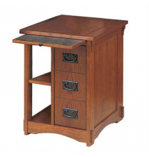 Powell Mission Oak Magazine Cabinet Table Brookstone