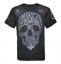 Affliction American Customs AC Wordskull T-Shirt Buckle
