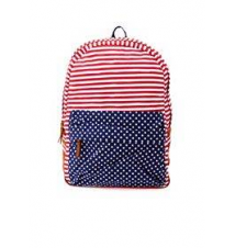 American Flag Print Canvas Backpack Charlotte Russe