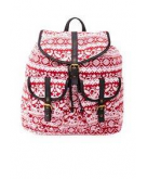 Paisley Print Canvas Backpack ..