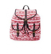 Paisley Print Canvas Backpack Charlotte Russe