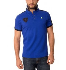 Slim Fit Rubber Patch Polo Shirt