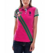 Multi-Patch Sash Polo Shirt