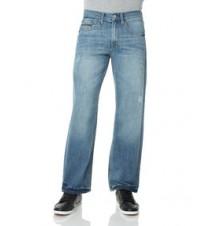 CLassic Straight Fit Small Logo Jean, Light Wash