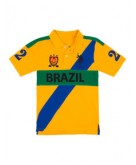 Boys Brazil Diagonal Polo Shir..
