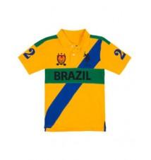 Boys Brazil Diagonal Polo Shirt