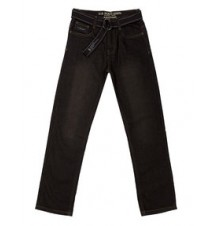 Boys Slim Straight  Belted Jeans