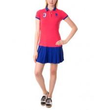 Pleat Skirt Polo Dress