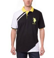 Chest Color Block Polo Shirt