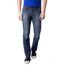 Slim Straight Fit Red Pocket Jean
