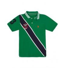Boys Diagonal Stripe Polo Shirt