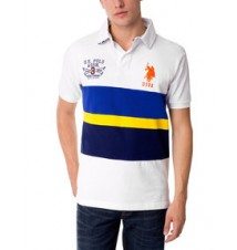 Big Logo Color Block Polo shirt With USPA Patch