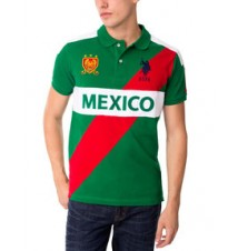 Slim Fit Mexico Polo Shirt