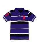 Boys Big Logo Striped Polo Shi..