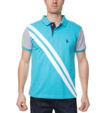 Diagonal Stripe Polo Shirt